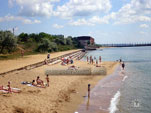Детский пляж (лягушатник) в пос. Приморский